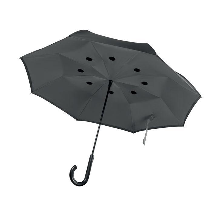 Реверсивный зонт двухслойный