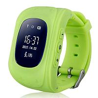 Умные Детские GPS часы Q50 (oled экран) зелёный