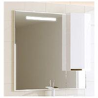 Зеркальный настенный шкаф Аляванн Latte 100, белый/венге