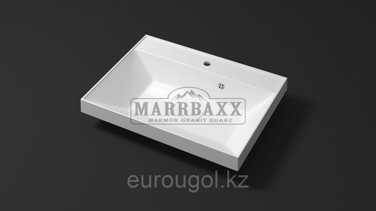 Мебельная раковина из мрамора Marrbaxx Дакота 60