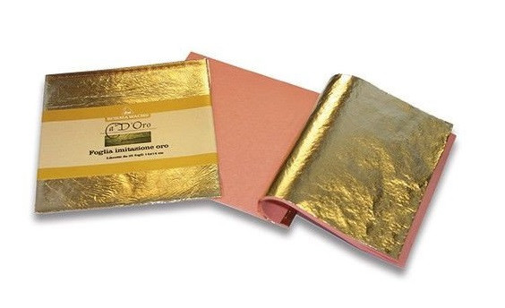 Поталь золото 14х14см, 25 листов, толщ.0,001мм