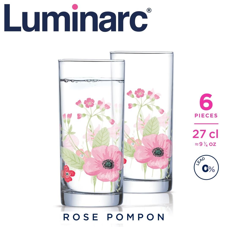 Стаканы Luminarc Rose Pompon высокие 270 мл (6 шт.)