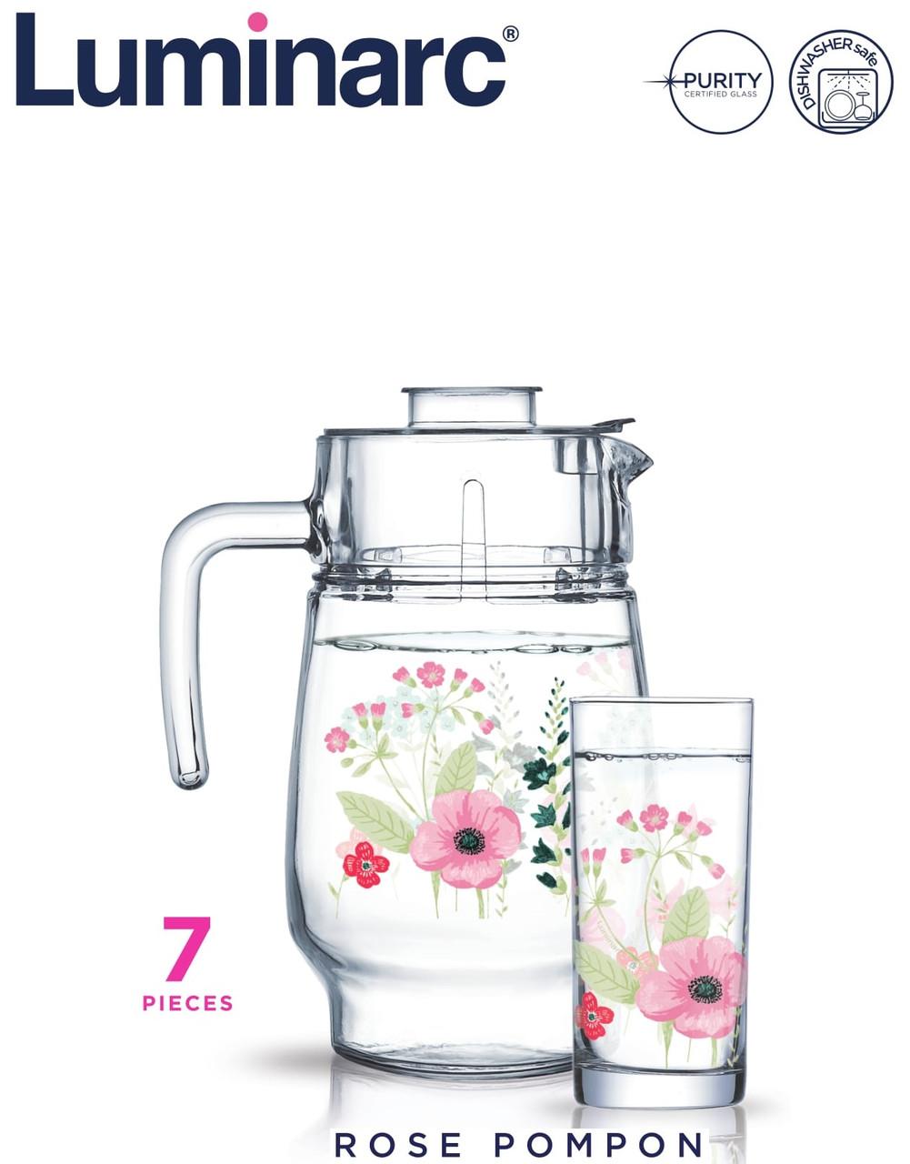 Набор для напитков Luminarc Rose Pompon (7 пр)