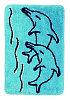 Коврик голубой/дельфин Аквалиния 40*60 (92)