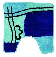 Коврик голубой/синий квадрат для унитаза Аквалиния 50*50 (2482)