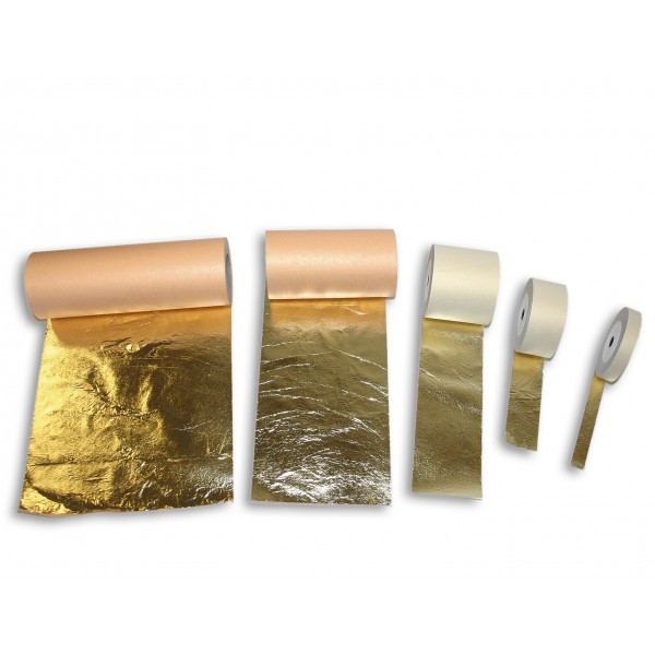 "Фольга алюминиевая ""Имитация золота"" в рулоне 1см × 50м"
