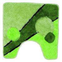 Коврик зеленый/круги для унитаза Аквалиния 50*50 (31)