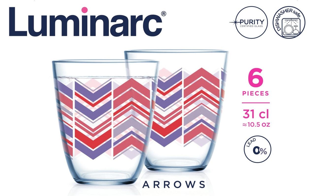 Набор стаканов Luminarc Neo Arrows 310 мл (6 шт)