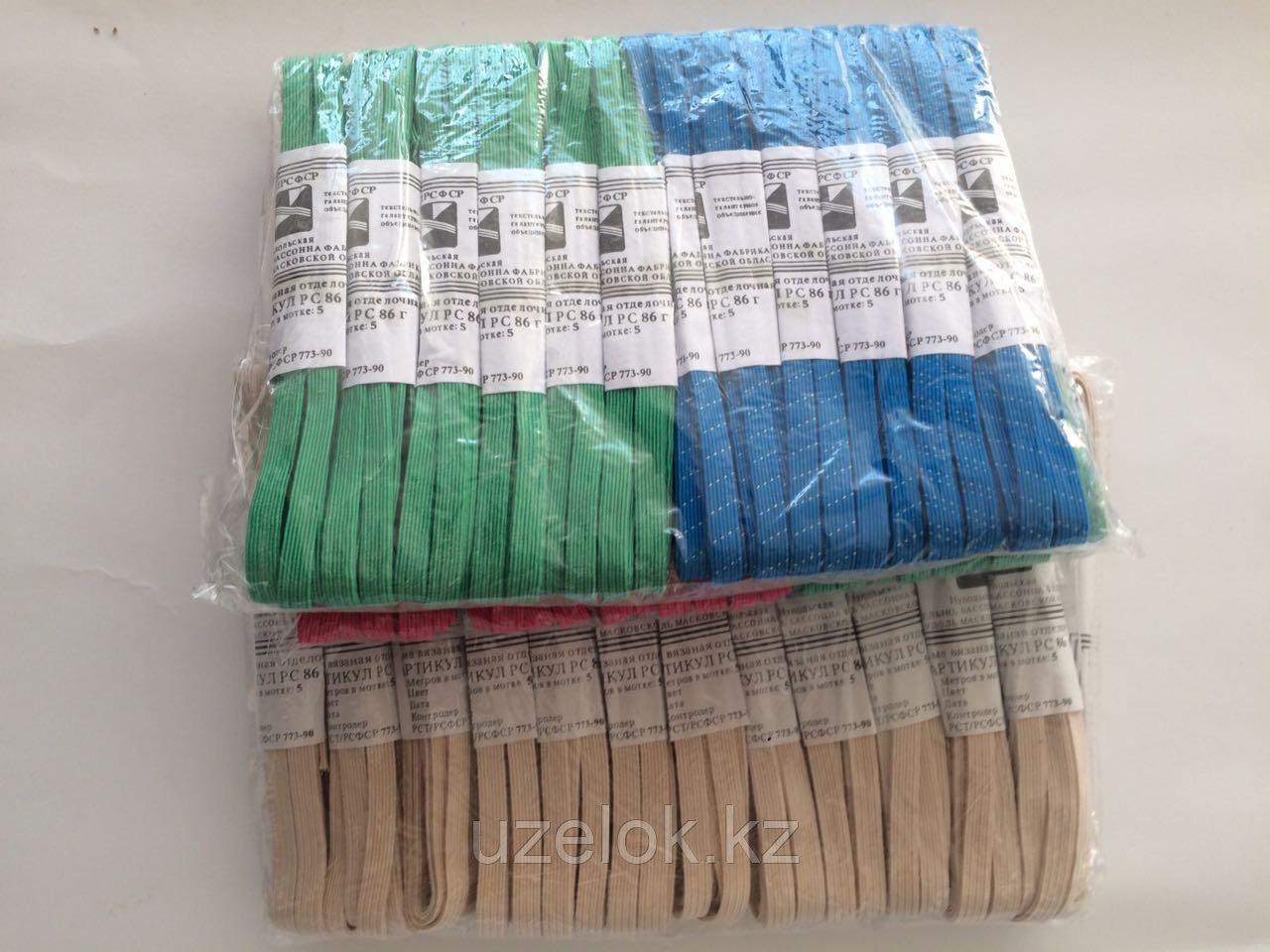 Резинка декоративная цветная (2м в мотке,в пачке 24шт)