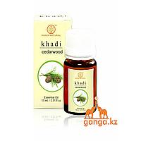 Натуральное эфирное масло Кедра (Essential Oil Cedarwood KHADI), 15 мл