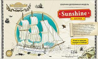 Сборная деревянная модель GOOD HAND Шхуна Sunshine (1:250)