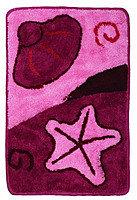 Коврик для ванной Аквалиния 100*60 (67) розовый/ракушка