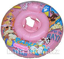 Надувной детский круг с трусами для плавания (розовый)