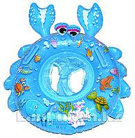 Надувной детский круг с трусами для плавания (голубой)