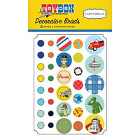 Набор брадсов и чипборда Toy Box