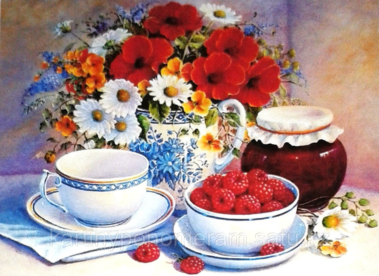"""Картина по номерам """"Завтрак с малиной 30х40см"""""""
