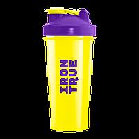 IronTrue - Шейкер 700мл. Фиолетовый-желтый