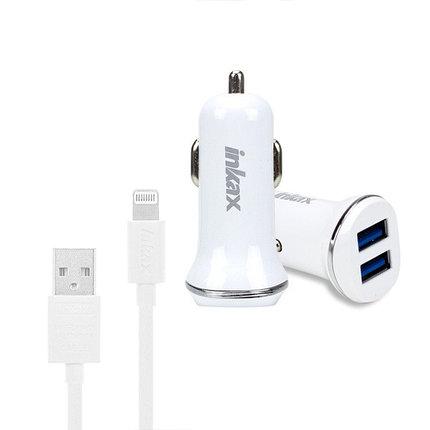 Автомобильное зарядное устройство INKAX CD-12 Lightning iPhone USB 2.1A, фото 2