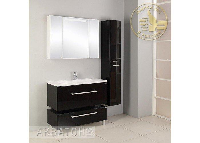 Зеркальный шкаф Акватон, МАДРИД 100, со светильником - фото 2