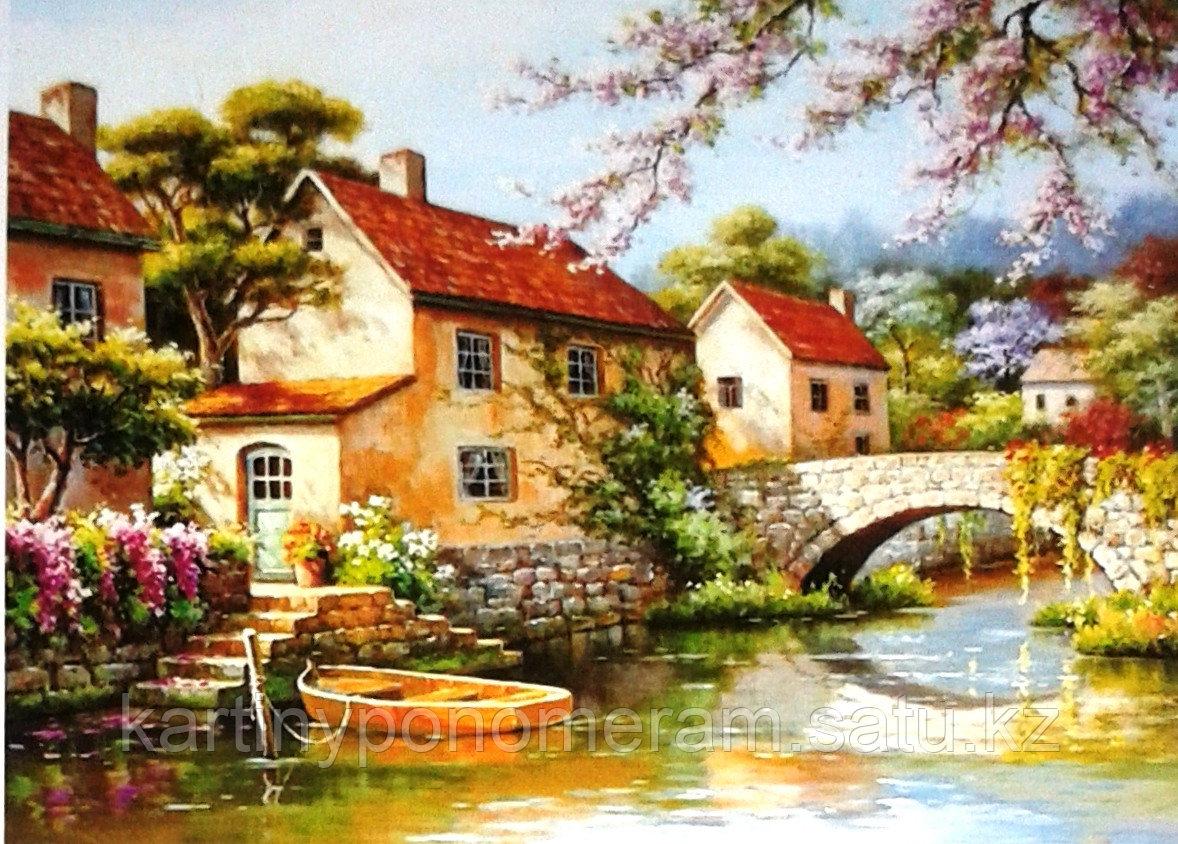 "Картины по номерам,  ""Весна во Франции 30х40"""