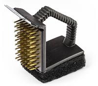 Щетка для чистки гриля, с губкой и скребком, 145 мм