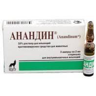 Анандин раствор для инъекций, уп. 3 амп. по 2 мл