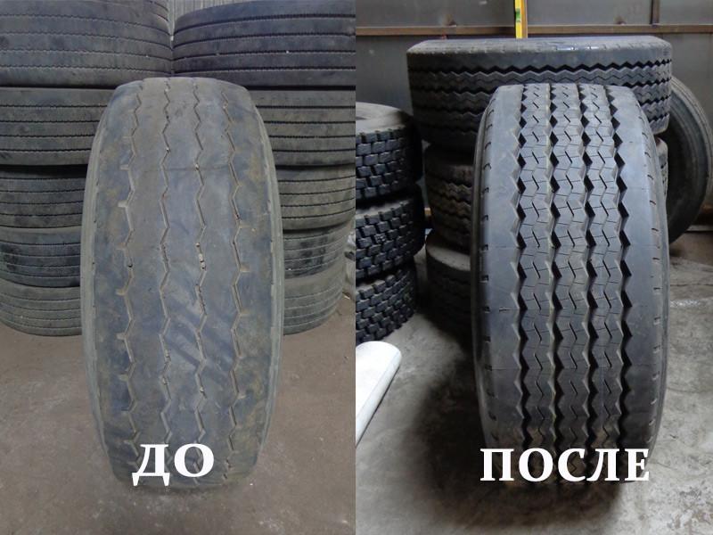 Восстановление протектора шины 385/65 R22,5