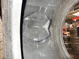 Ремонт крупногабаритной шины от погрузчика 5