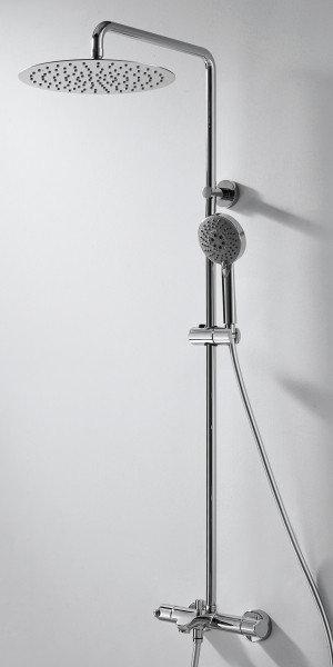 Душевая стойка Bravat Waterfall F639114C-A2-RUS с термостатическим смесителем и верхним душем