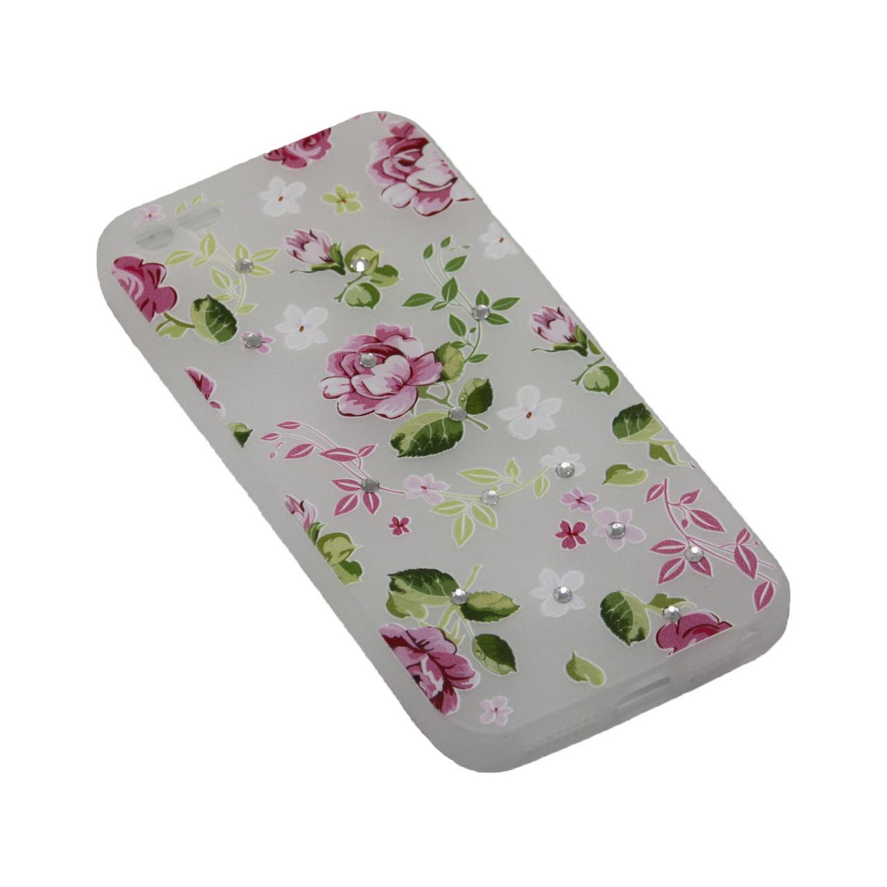 Чехол Fashion Силикон Стразы 2 iPhone 5