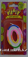 """Свеча цифра """"0"""" для торта"""