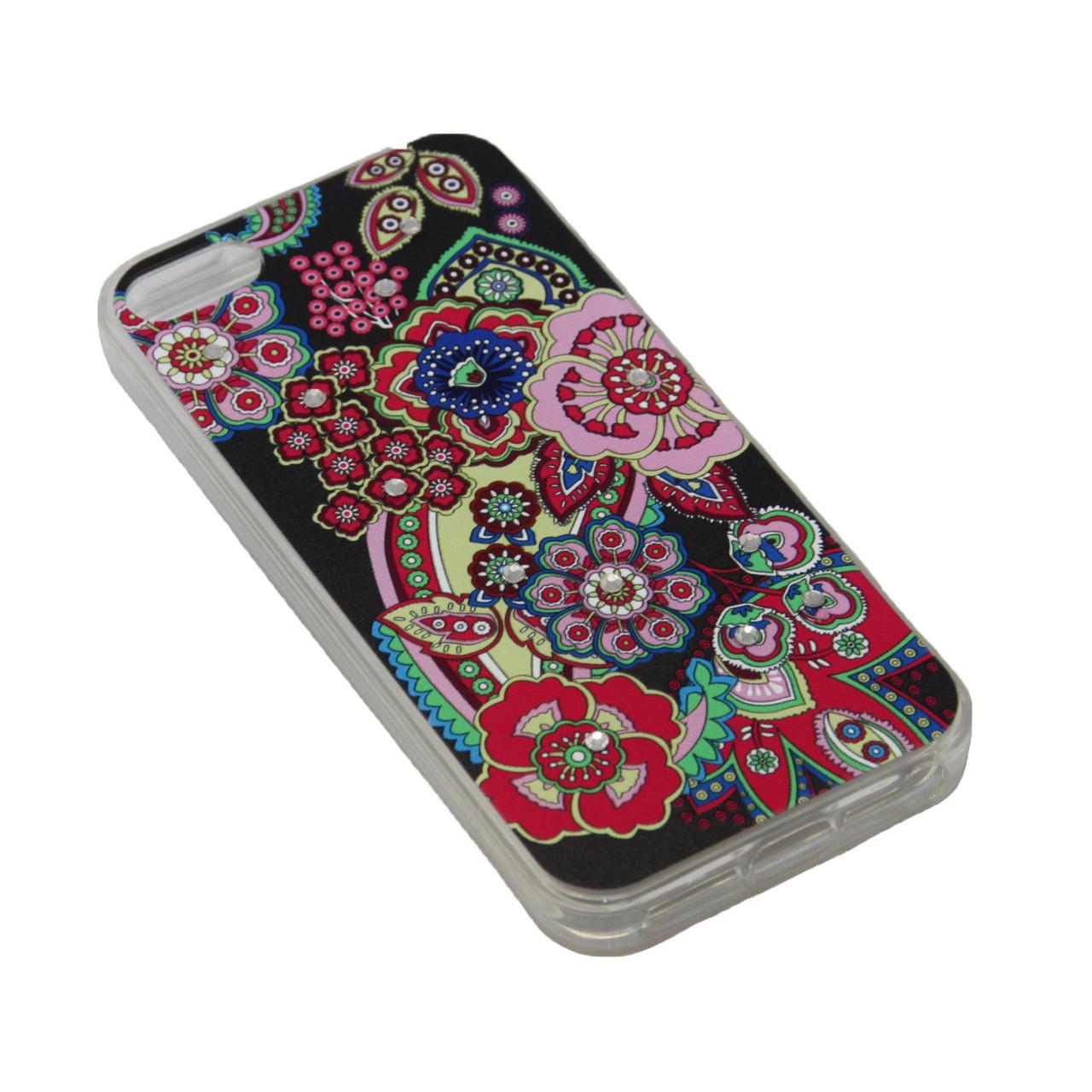 Чехол Fashion Силикон Стразы Samsung J2 Prime - фото 1