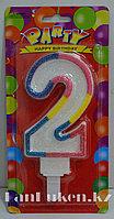 """Свеча цифра """"2"""" для торта (большая)"""
