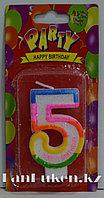 """Свеча цифра """"5"""" для торта"""