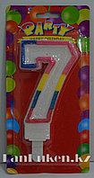 """Свеча цифра """"7"""" для торта (большая)"""