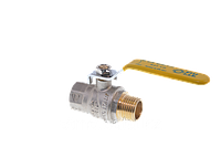 Кран шаровой FIV для газа 15(1/2) ручка длинная желтая  внутренняя - наружная резьба