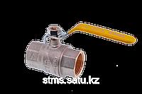 Кран шаровой FIV для газа 15(1/2) ручка длинная желтая  внутренняя - внутренняя резьба