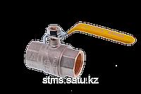Кран шаровой FIV для газа 40(1 1/2) ручка длинная желтая  внутренняя - внутренняя резьба