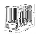 СКВ Кровать детская МИТЕНЬКА (маятник поперечный) венге, фото 3