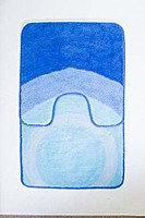 Набор 2 ковра голубой/круги Аквалиния 50*80 (76)
