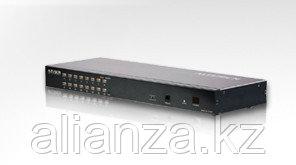 KN1516  16-портовый высокоплотный KVM-Переключатель с кабельной системой категории 5.