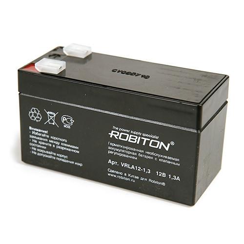 Аккумулятор ROBITON VRLA12-1,3  12v 1,3Ah