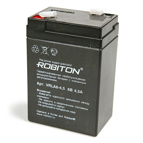Аккумулятор Robiton VRLA6-4,5 6v 4.5Ah
