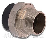 Муфта разъем наруж ПЭ 50х11/2М спайка внутрь латунь SDR9 тс-6мм