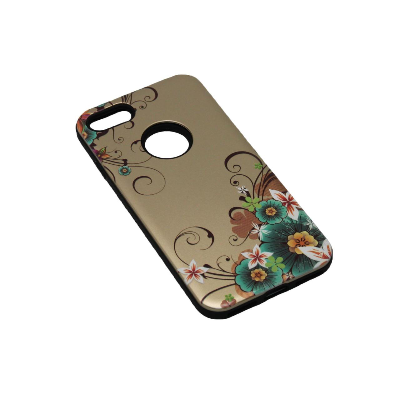 Чехол Силикон Черный с Рисунком 2 iPhone 5S, SE