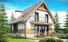 Проект дома «Анцио» 154,0 кв.м. из SIP панелей