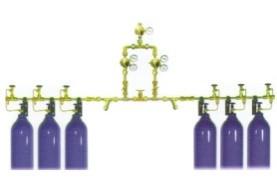 Рампа кислородная (рампа газовая) на 6 баллонов - фото 1