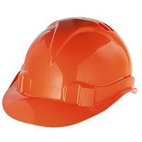 Каска защитная из ударопрочной пластмассы оранжевая Сибртех 89113 (002)