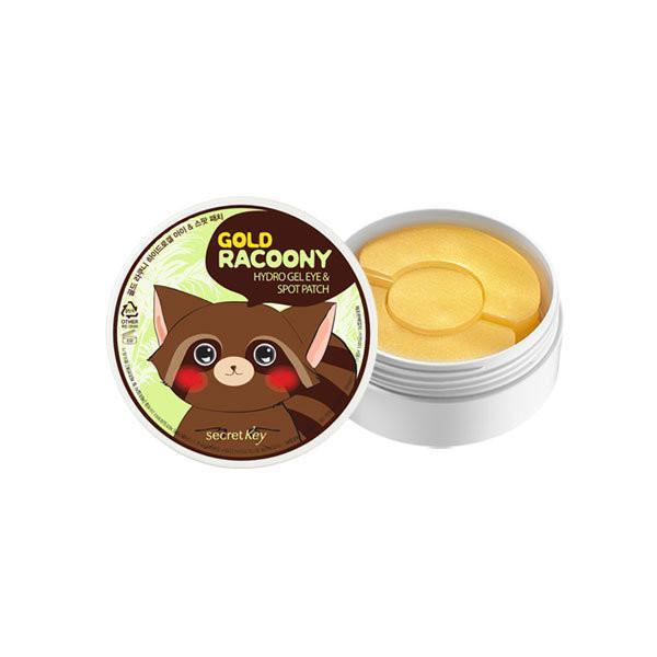 Secret Key Gold Racoony Hydro Gel & Spot Patch Гидрогелевые патчи для кожи вокруг глаз и локального применения