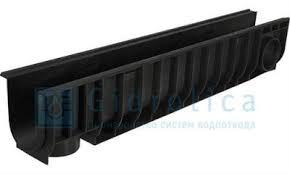 Лоток водоотводный ЛВ-10.14,5.18,5- пластиковый